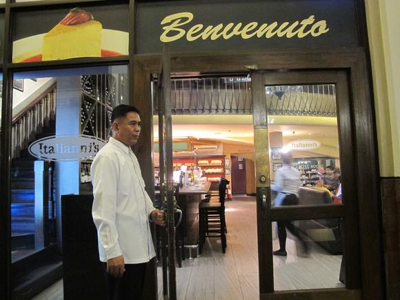 An Italianni's restaurant in Manila operated by the Bistro Group, a company controlled by private equity fund Navegar